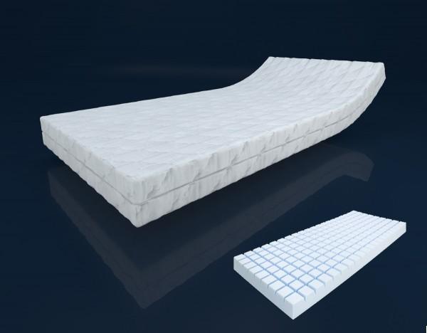 7 Zonen Würfel Kaltschaum Matratze Höhe 16 cm H2 + H3 mit 3 D Würfelschnitt Schaummatratze günstig