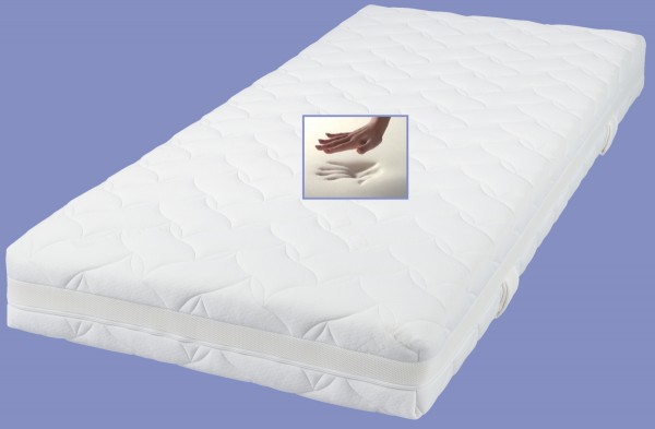 Viskoelastische Matratze Comfort Höhe 18 o. 22 cm 7 cm Visco Visko RG 60 Alternative zu Kaltschaum Matratzen günstig