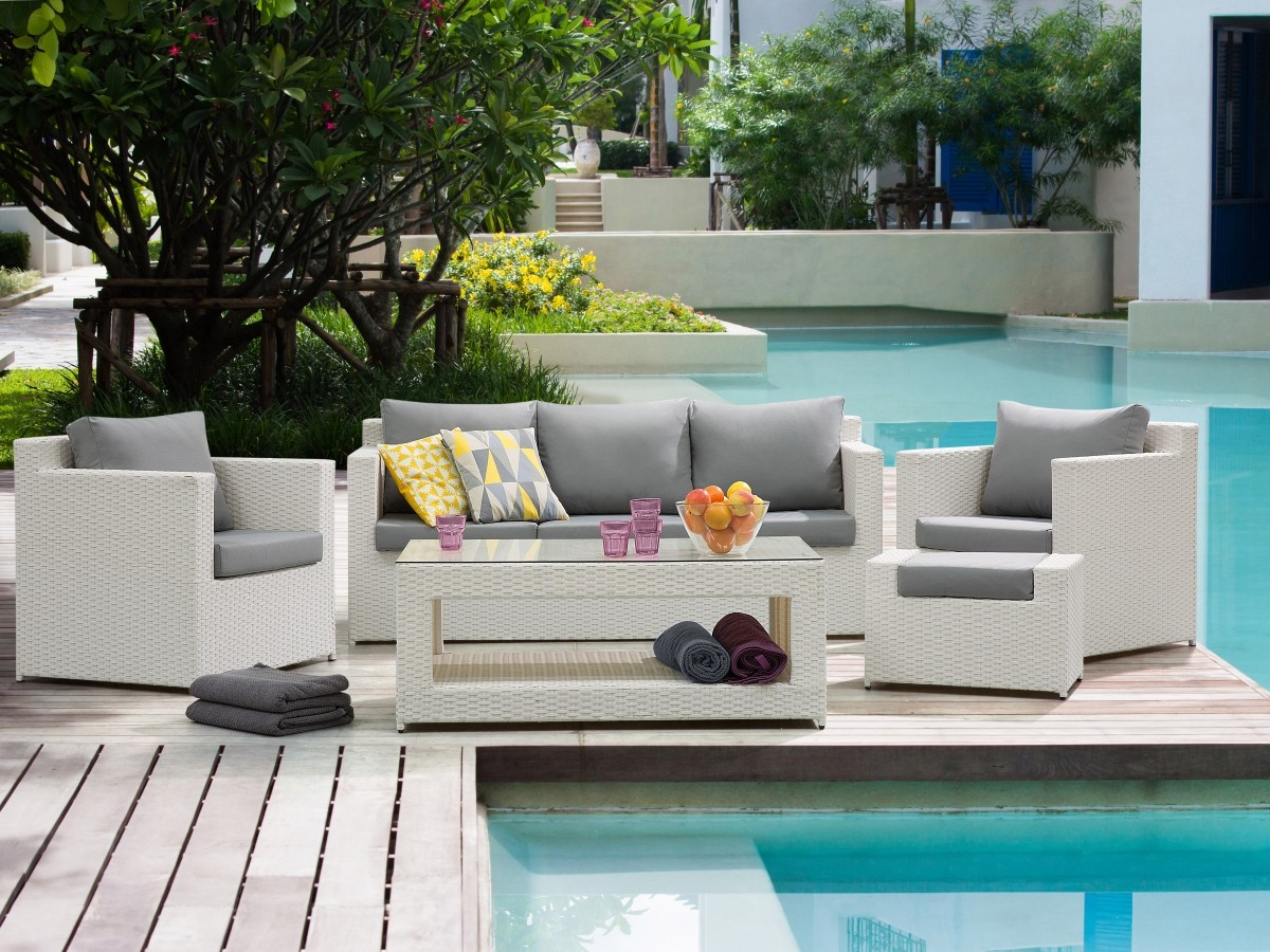 Rattan garden furniture set rio rattan lounge for garden or terrace couch rattanlounge white grey supply24