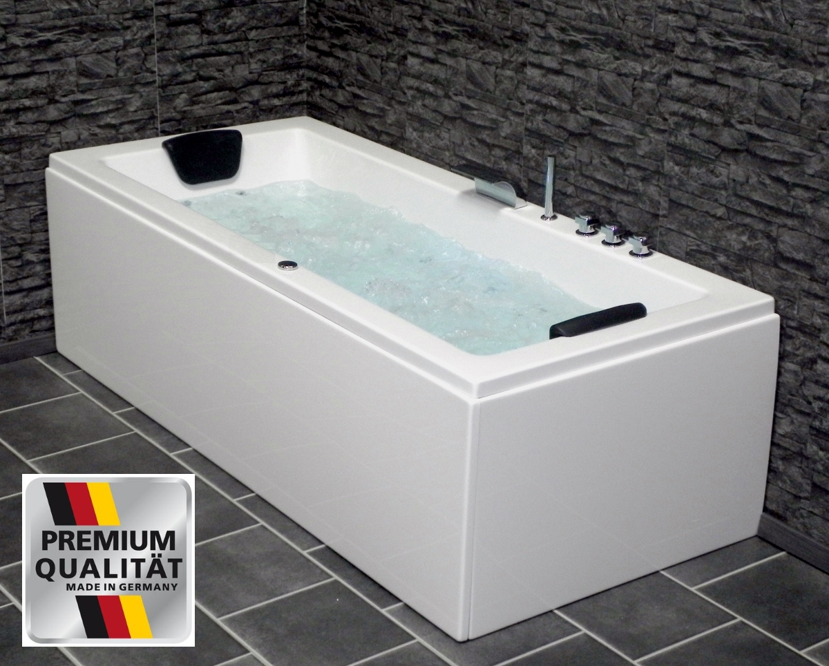whirlpool badewanne eckwanne g nstig mit 8 massage d sen. Black Bedroom Furniture Sets. Home Design Ideas
