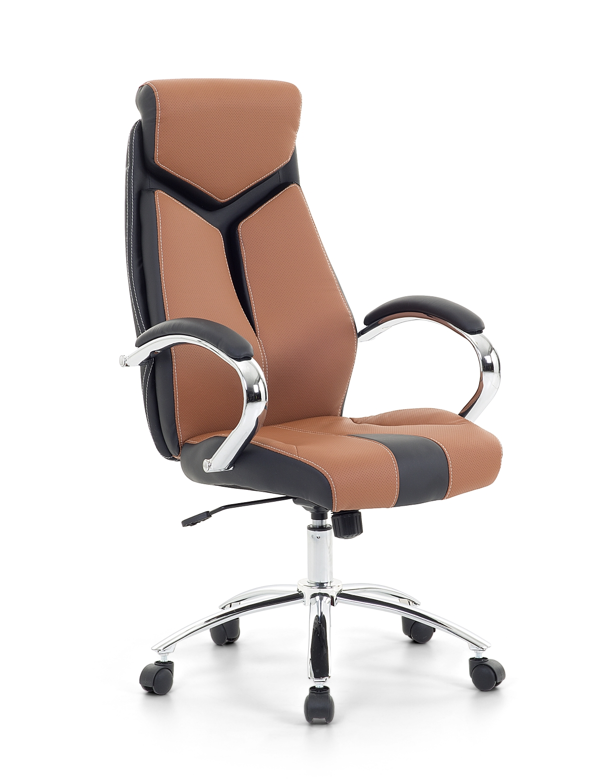 Bürostuhl weiß braun  Racing Chefsessel Bürosessel Bürostuhl bequemer Sessel braun ...
