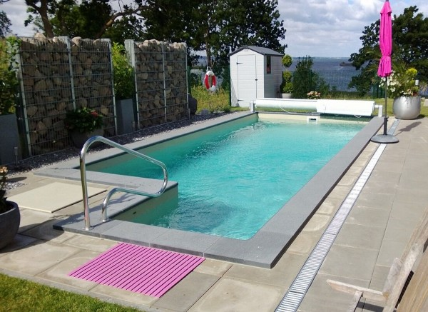 Plug & Play Skimmer Pool Becken komplettes Poolbecken mit Treppe + Technikschacht Swimming Pool Skimmerbecken Spa günstig