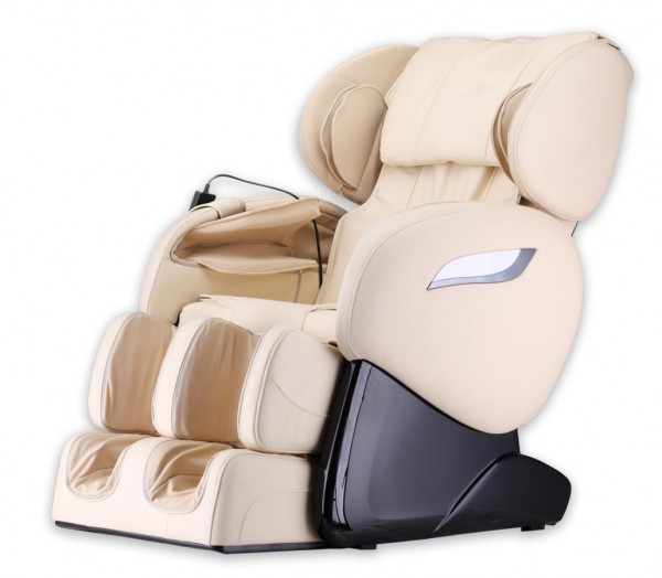 """Massagesessel """"Shiatsu F2000"""" creme weiss / beige mit Rollentechnik + Heizung + Fußmassage  + Beinmassage + Armmassage super günstig"""
