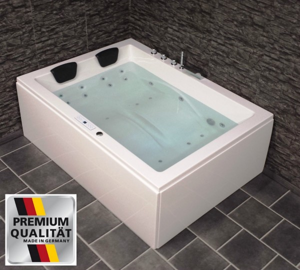 doppel whirlpool badewanne links mit ozon heizung doppelwanne led supply24. Black Bedroom Furniture Sets. Home Design Ideas