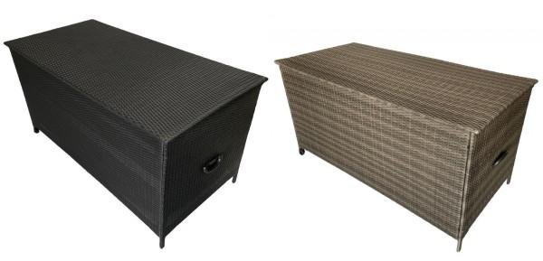 XXL Rattan Box Kissenbox 162 cm 700 Liter Rattanbox braun schwarz mit Rollen Kissentruhe Auflagentruhe für Kissen Polster Auflagen günstig