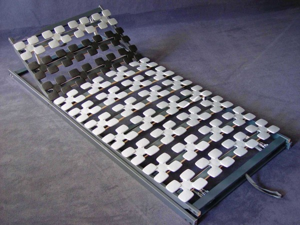 """5 Zonen Tellerfeder Lattenrost / Teller Lattenrahmen """"Ergostar"""" mit oder ohne Kopf / Fußteil Verstellung günstig"""