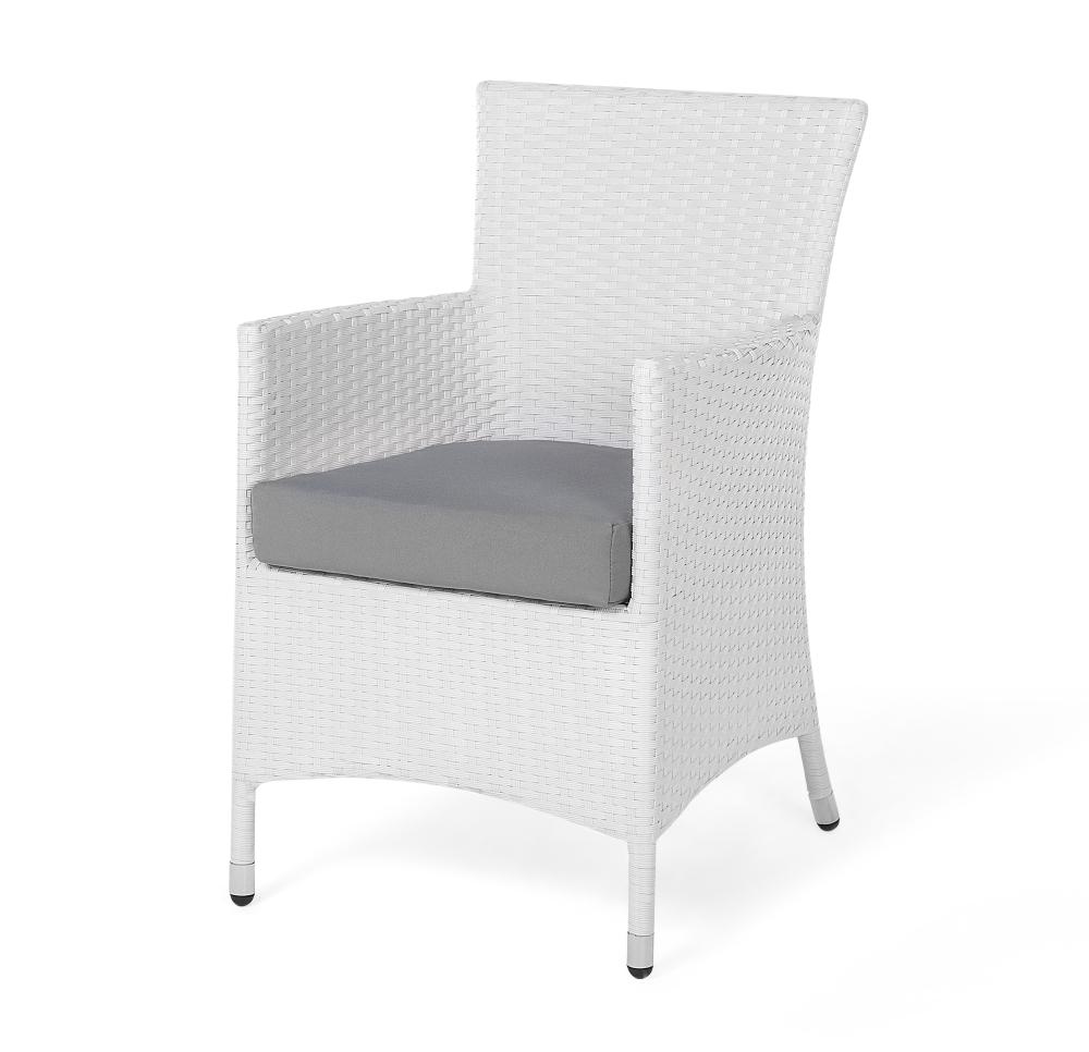 Rattan Gartenmöbel Set Mit 8 Stühlen Weiss Esstisch