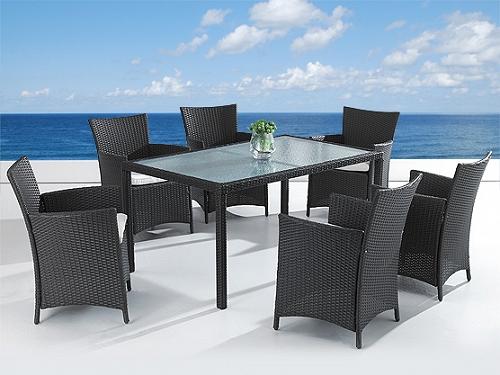 rattan gartenm bel gartentisch 160 220 cm esstisch mit 6 8 st hle supply24. Black Bedroom Furniture Sets. Home Design Ideas
