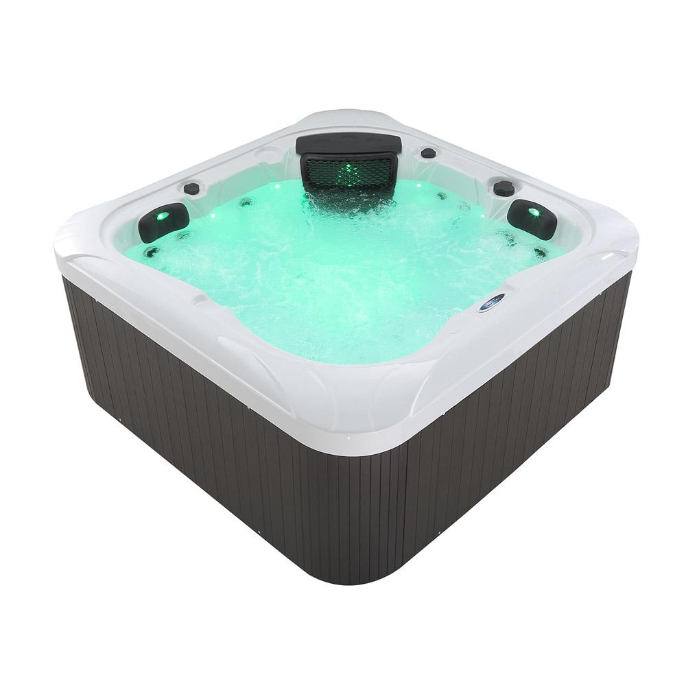 outdoor whirlpool mit heizung led ozon hot tub f r 4 personen garten terrasse ebay. Black Bedroom Furniture Sets. Home Design Ideas