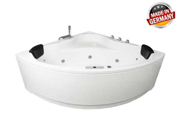Whirlpool Badewanne Karibik Profi mit 21/25 Massage Düsen + Heizung + Ozon + Beleuchtung + 4 Größen wählbar