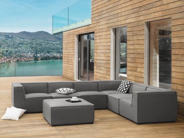 """Lounge Gartenmöbel Set """"Amarillo"""" XXL  Gartensofa modular Sitzgruppe Gartenlounge Sofa für Garten Terrasse Balkon Loungemöbel GRAU"""