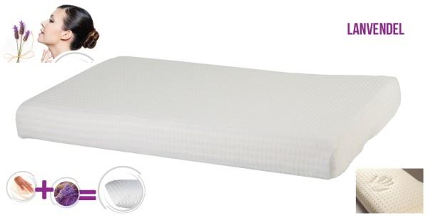 Ultraflaches Gel Gelschaum Lavendel Bauchschläferkissen 65 x 40 x 7 cm niedriges Kopfkissen für Bauchschläfer Gelkissen Memory Foam Schaum