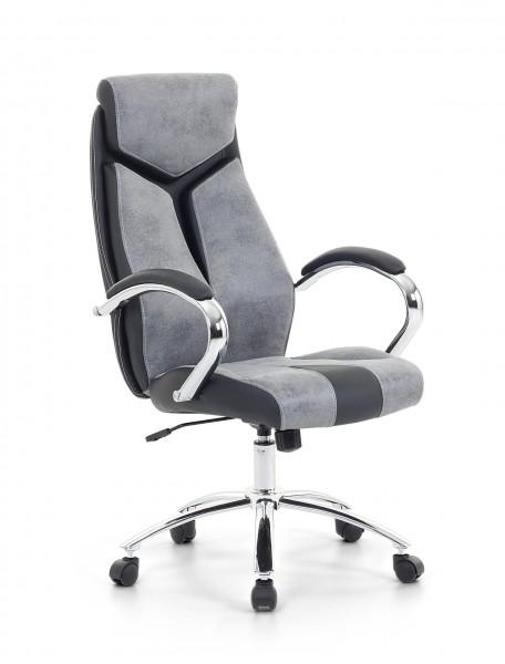 "Designer Chefsessel Racing Bürosessel ""Formula"" Farbe grau / schwarz Bürostuhl Computersessel"