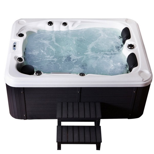 Outdoor Whirlpool Hot Tub Spa Berlin 210x155 cm mit 51 Massage Düsen +  Heizung + Ozon Desinfektion für 3 Personen
