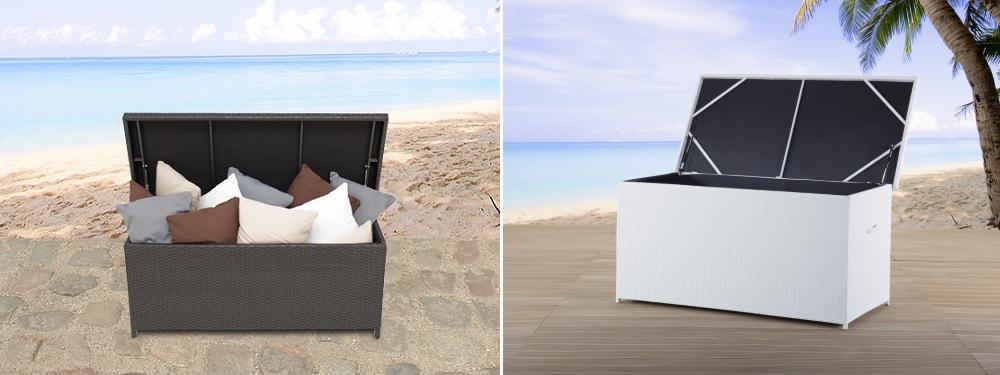 Unterschiedlich Rattan Gartenmöbelbox Kissenbox Rattanbox Rattantruhe  OJ08