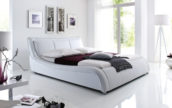 Design leather bed upholstered bed \