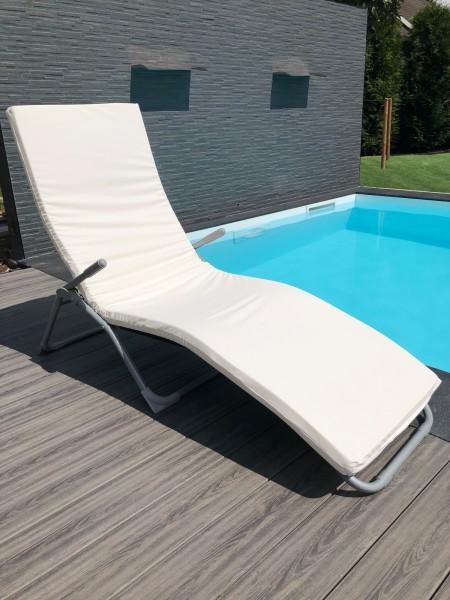 PU / Gel Gelschaum Auflage nach Maß für Outdoor Sauna Sonnenliege Liegenauflage Gartenliege Höhe 5 + 7 + 10 cm Saunaauflage Topper für Liegestuhl