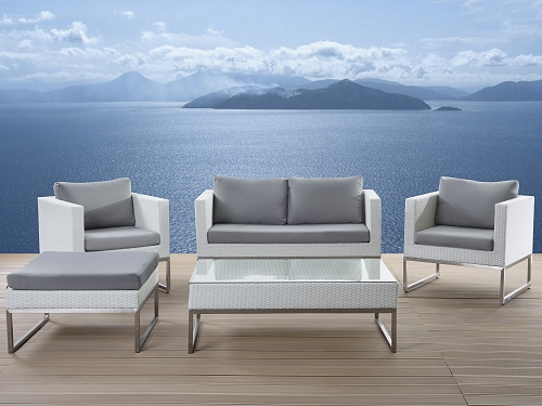 designer rattan gartenm bel lounge rattanlounge g nstig sitzm bel wei supply24. Black Bedroom Furniture Sets. Home Design Ideas