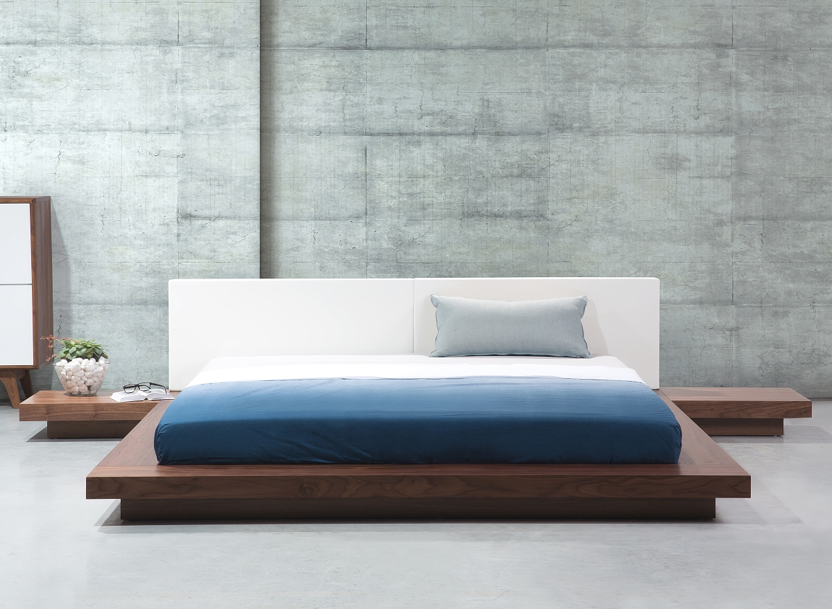 japanisches designer holz bett japan style japanischer. Black Bedroom Furniture Sets. Home Design Ideas