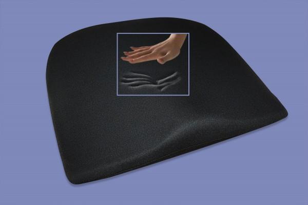 Visco Anti Dekubitus Sitzkissen Visko Keilkissen für Bürostuhl Rollstuhl Chefsessel schwarz 41x38x8 cm RG 65
