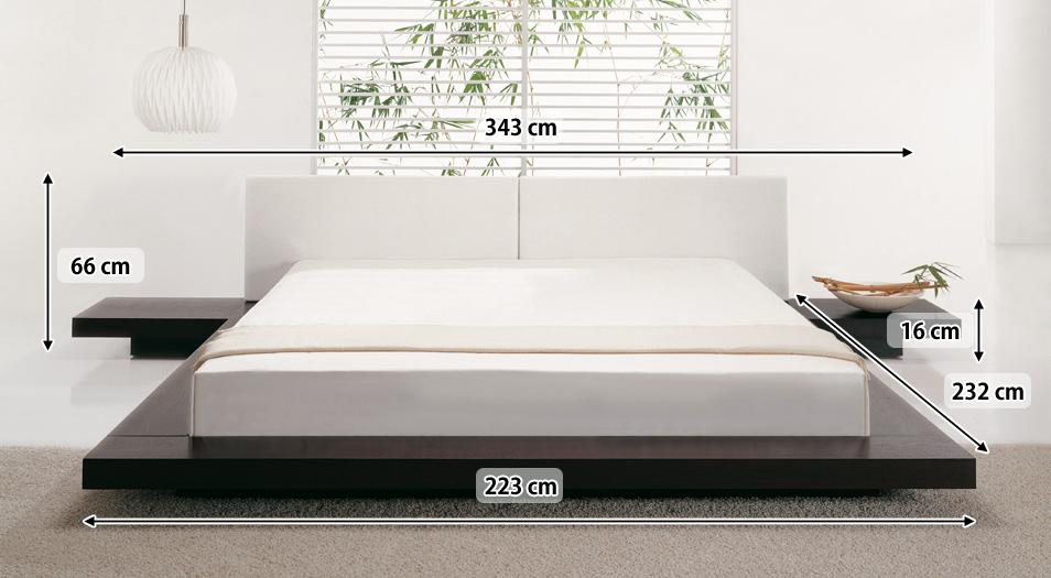 Designer Bett Japan Stil 180x200 Cm Holz Bett Walnuss Nougat Mit Lattenrost Massives Japanisches Futonbett