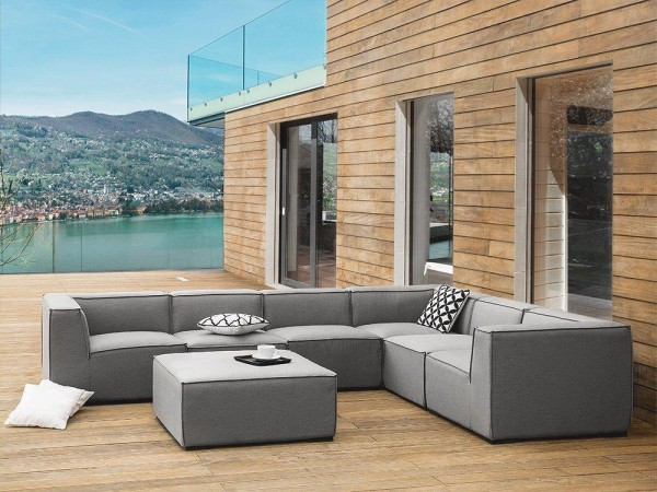 """Lounge Gartenmöbel Set """"Amarillo"""" XXL Sitzgruppe Gartenlounge Sofa für Garten Terrasse Balkon Loungemöbel GRAU"""