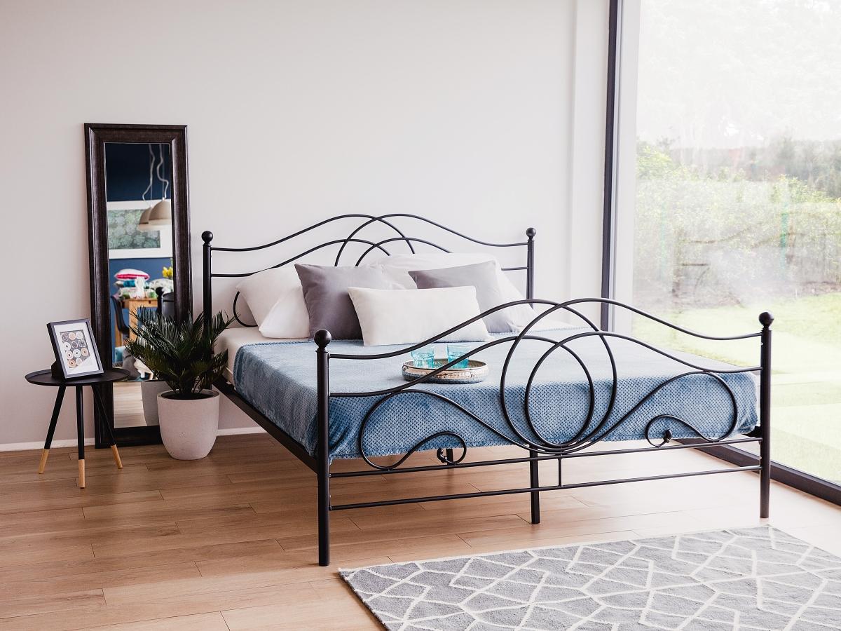 metallbett mit lattenrost lattenrahmen 160x200 180x200. Black Bedroom Furniture Sets. Home Design Ideas