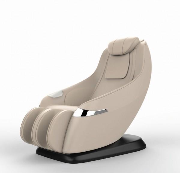Massagesessel Atlanta beige mit Zero Gravity Rollentechnik Heizung Bluetooth Lautsprecher Fußmassage Beinmassage günstig