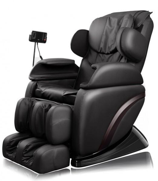 """Massagesessel """"Shiatsu F3"""" schwarz mit Rollentechnik + Heizung + Armmassage + Fußmassage  + Beinmassage super günstig"""