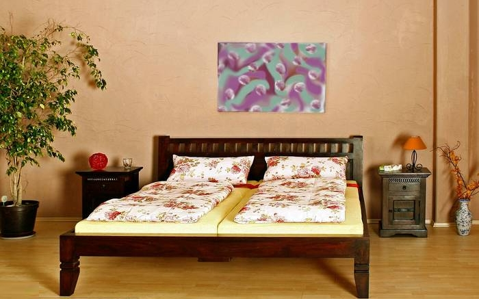 supply24 massivholz bett oxford nougat oder honig edles akazienholz 120 140 160 180 200. Black Bedroom Furniture Sets. Home Design Ideas