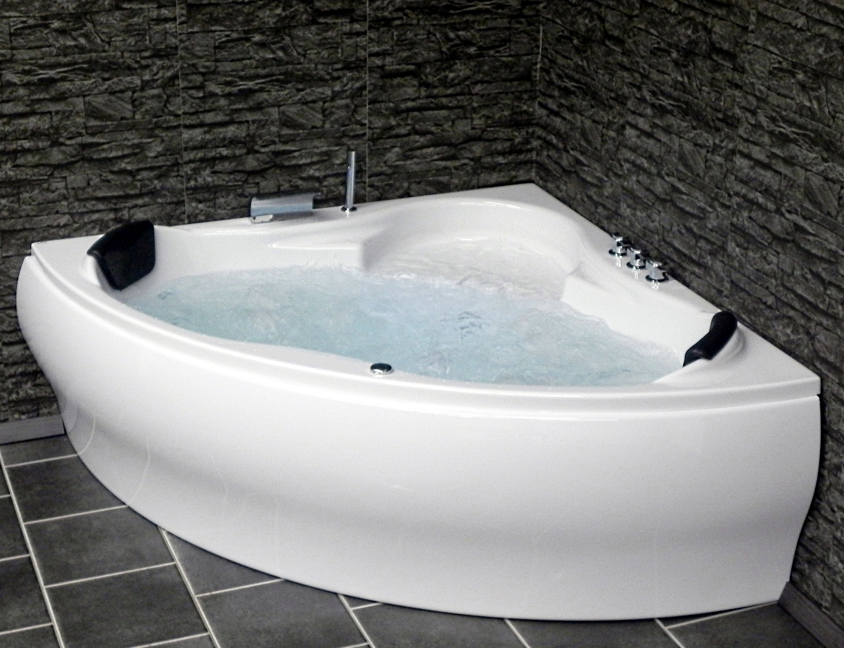 whirlpool badewanne paris mit 8 massage d sen led viega trio g nstig. Black Bedroom Furniture Sets. Home Design Ideas