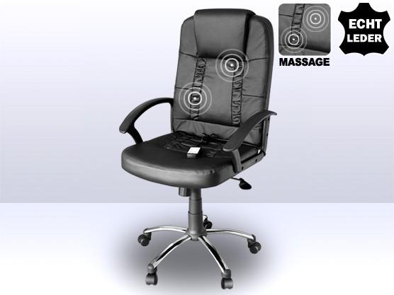 """Leder Chefsessel / Massagesessel """"Relax"""" schwarzer Bürostuhl mit Massage super günstig"""