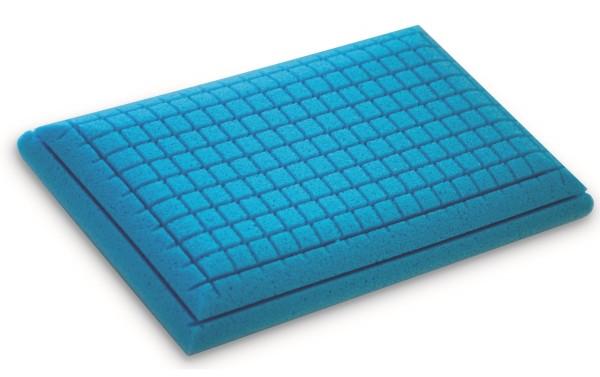 Orthopädisches Gel Gelschaum Kopfkissen Blue Memory Bauchschläferkissen 80x40 cm 2 verschiedene Seiten / Härtegrade