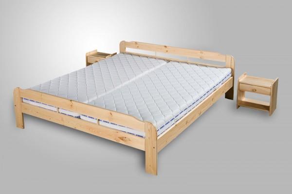 """Massivholz Bett """"Sarah"""" aus Kiefer Holz alle Maße + Überlänge 220 cm Holzbett super günstig"""