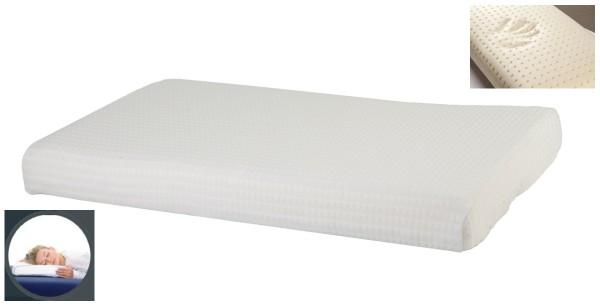 Ultraflaches Gel Gelschaum Bauchschläferkissen 65 x 40 x 7 cm niedriges Kopfkissen für Bauchschläfer Gelkissen Memory Foam Schaum