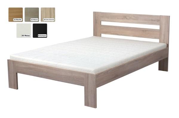 """Futon Bett """"Nizza"""" Futonbett Holzbett Jugendbett Farbe Schwarz, Weiss, Buche, Sonoma Eiche oder Ahorn"""