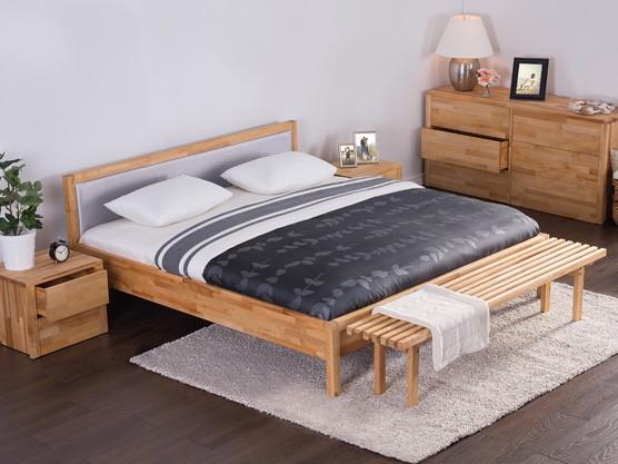 "Designer Massivholz Bett ""Costa Rica"" 180x200 cm mit Lattenrost / Lattenrahmen Holzbett Birke massiv"