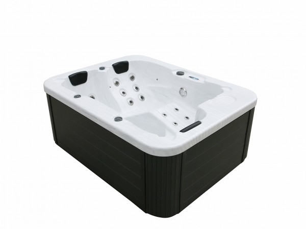 Outdoor Whirlpool Spa Lyon White With 27 Massage Jets + Heating + Ozone  Disinfection For 3