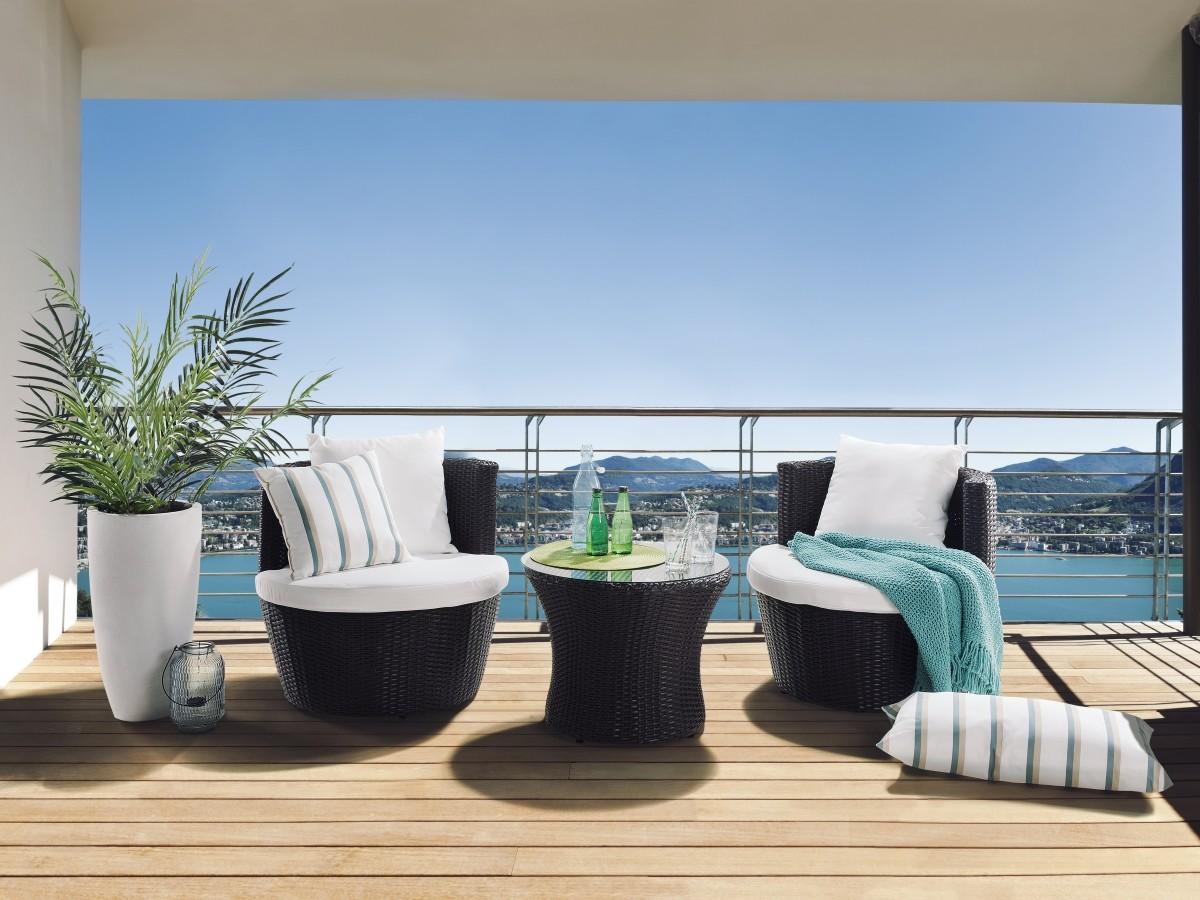 Designer Rattan Gartenmöbel kompakt leicht verstaubar Sessel und ...