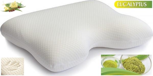 Gel Gelschaum Eucalyptus Seitenschläferkissen Kopfkissen für Seitenschläfer Gelkissen Memory Foam Schaum 55 x 40 x 11 cm