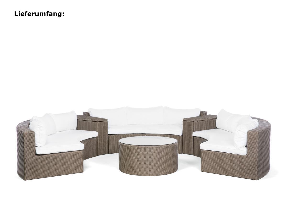 Runde Rattan Gartenmöbel Lounge Rattanlounge Garten Tisch