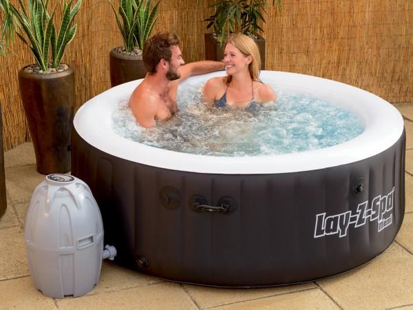 Whirlpool LAY-Z-SPA mit 80 Sprudelbad Düsen + Heizung + Massage outdoor Spa außen Wellness günstig