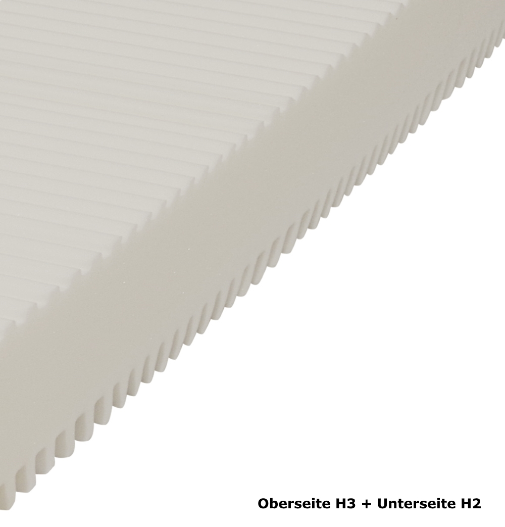 wellness 7 zonen kaltschaum matratze h he 25 cm h1 h2 h3 schaumstoff g nstig supply24. Black Bedroom Furniture Sets. Home Design Ideas